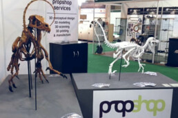 Exhibition of the 3D printed dinosaur from voxeljet