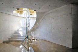 3D-printed concrete formwork for stairs from voxeljet