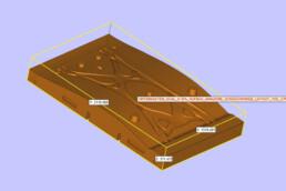 Lower box CAD data of a voxeljet landing gear swing arm