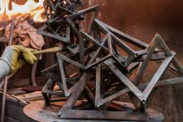 Patination of a sculpture