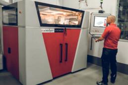 VX1000-PDB 3D printer from voxeljet at the Lütgemeier company
