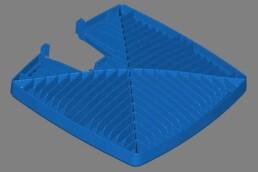 CAD data for optimized LED lights from voxeljet