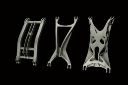 Optimization of a landing gear swing arm using 3D printing from voxeljet