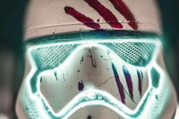 3D printed Stormtrooper helmet from voxeljet