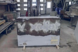 voxeljet company tile after removing the conventional formwork
