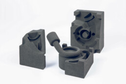 3D printed compressor housing from voxeljet