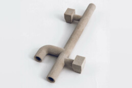 Thin-walled core from voxeljet printed with phenolic resin 3D