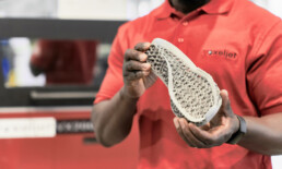 3D polymer shoe sole from voxeljet