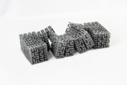 3d printed polymer cube from voxeljet