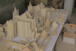 3D architectural model made of plastic by voxeljet