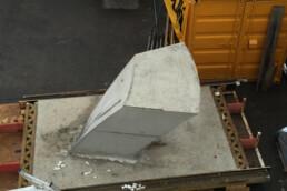 3D printed concrete slab element from voxeljet