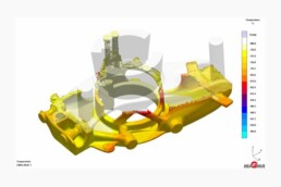 Simulation of 3D casting mold