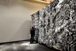 3D printed plastic wall