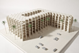 Architectural model from the 3D printer