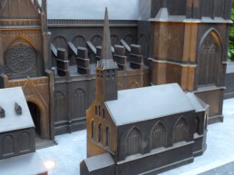 3D architectural model made of bronze by voxeljet