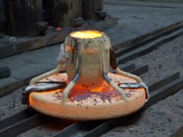 Casting of the 3D sand mould