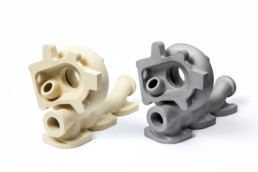 3D investment casting model of a turbocharger