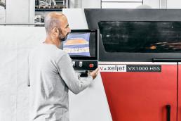 Industrial polymer 3D printer VX1000 HSS from voxeljet