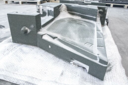 3D sand casting mold for electric motor housing from voxeljet